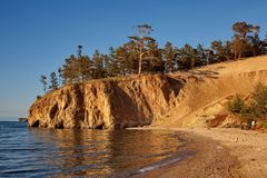 Beach on Olkhon Island Royalty Free Stock Photos