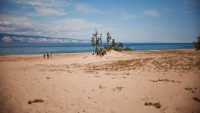 Beach on Olkhon Island Royalty Free Stock Image