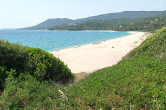 The beach of Olmeto on Corsica island Royalty Free Stock Photo