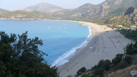 The beach of Oludeniz. On an beautiful day on the beach in oludeniz royalty free stock images