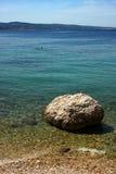 The beach in Omis, Croatia Royalty Free Stock Photos