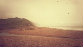Beach. One of the days out, on Charmouth beach Stock Photo
