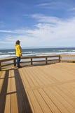 On the beach on the Oregon coast. Royalty Free Stock Image