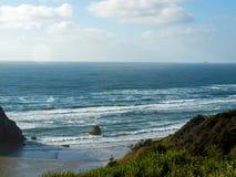 Beach on the Oregon Coast Overlook at Sundown Stock Image