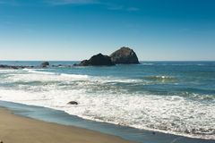Beach on the Oregon Coastline Stock Images