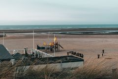 The beach of Ouddorp, The Netherlands royalty free stock images