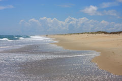 Beach on Outer banks. Beach on the island of Okracoke Stock Photo