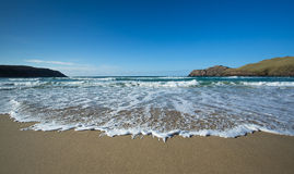 Beach in the Outer Hebrides. Turquoise waters lapping a beach in the outer hebrides, Scotland royalty free stock photos
