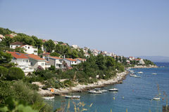 Beach outside Trogir in Croatia Stock Photos