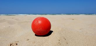 Beach paceful sunny day. A sunny day in summer of total relax on the italian adriatic beach royalty free stock images