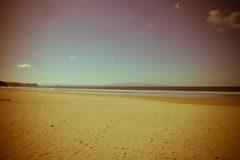 Beach from pacific coast vintage style Royalty Free Stock Photo