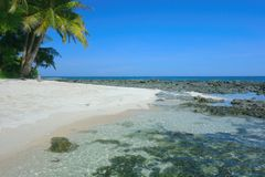 Beach in the Pacific Ocean. On the island of Siargao, Philippines Stock Photos