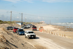 Beach of Padre Island, Texas Royalty Free Stock Photos