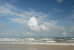 Beach on Padre Island, TX USA Stock Image