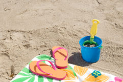 Beach Pail and Shovel Stock Images