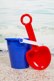 Beach Pail and Shovel Stock Photography