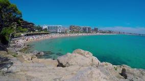 Beach Palamos time lapse Spain,Costa Brava stock video footage