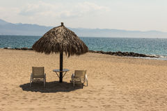 Beach Palapa Royalty Free Stock Photography