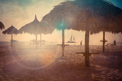 Beach Palapa Textured Royalty Free Stock Images
