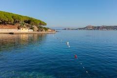 Beach in Palau, Sardinia. Stock Images