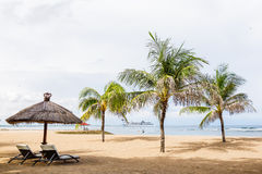 Beach with palm trees in Bali Royalty Free Stock Images