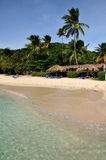 Beach and Palm trees in Palomino. Tropical beach of Palomino island in Puerto Rico Stock Photography