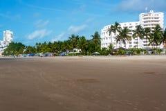 Beach and Palm Trees. In Same, Ecuador Stock Photography
