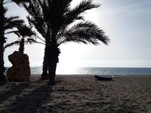 Beach and Palms. Royalty Free Stock Photography