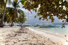 Beach at Pandan Island, Philippines Stock Images