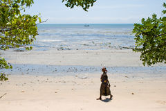 Beach in Pangani, Tanzania. Royalty Free Stock Photos