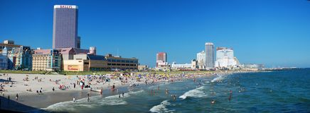 Beach panorama Royalty Free Stock Image