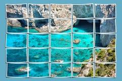 Beach panorama stock illustration