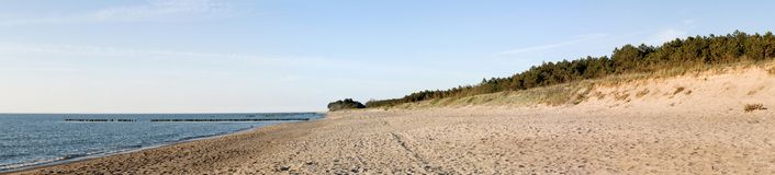 Beach Panorama Royalty Free Stock Photo