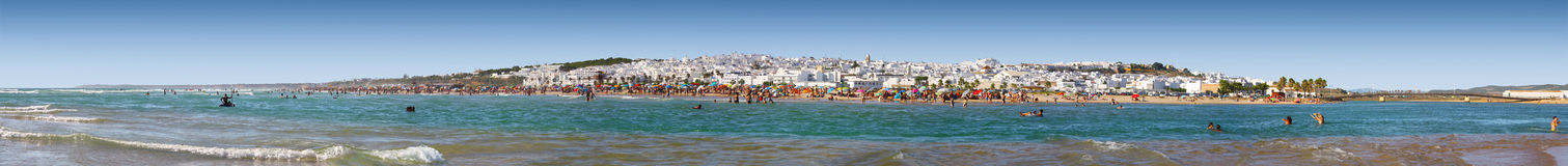 Beach panorama of conil de la frontera Royalty Free Stock Photography