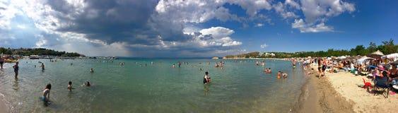 Beach panorama of guneyli beach in Gallipoli Gelibolu. The Macedonian city of Callipolis was f Stock Images