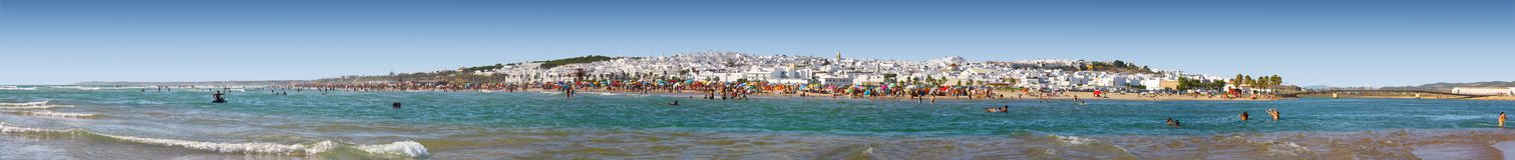 Free Beach Panorama Of Conil De La Frontera Royalty Free Stock Image - 148957336