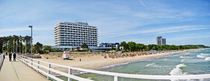 Beach panorama in Timmendorfer Strand, baltic sea, germany Stock Photography