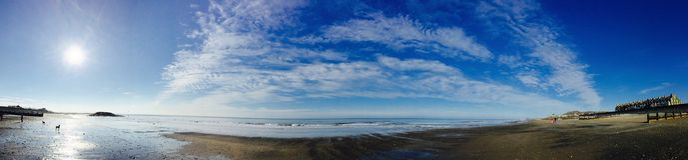 Beach panoramic Royalty Free Stock Photography