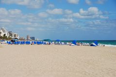 Beach panoramic view Royalty Free Stock Photography