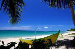 Beach Paradise. Beautiful located in Rincon, Puerto Rico Stock Images