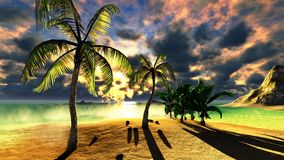 Beach paradise Stock Images