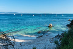 Beach paradise in Galicia, Spain royalty free stock photo