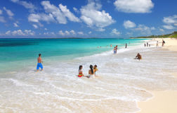 Beach on Paradise island Stock Images