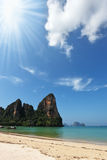 Beach paradise on island Phi-Phi, Thailand Stock Photos