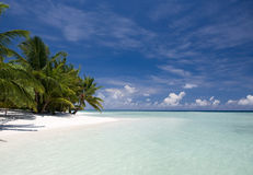 Beach paradise in Maldives Royalty Free Stock Photography