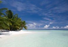 Beach paradise in Maldives. Kuramathi island Royalty Free Stock Photography
