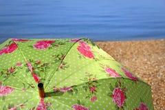 Beach paradise parasol Royalty Free Stock Images