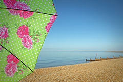 Beach paradise parasol Stock Images