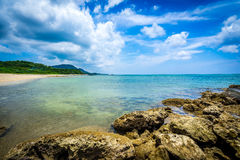 Beach paradise at tropical island of Okinawa Stock Photo