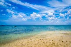 Beach paradise at tropical island of Okinawa Royalty Free Stock Photo